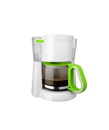coffee machine isolated on white  photo