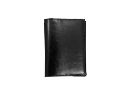 A black wallet isolated on a white backgruon photo