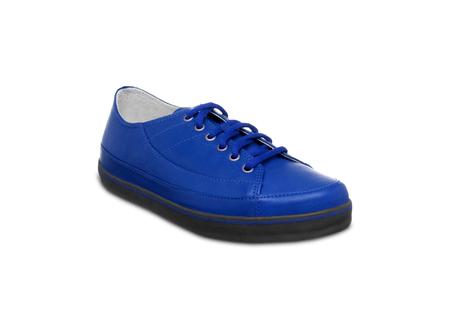 shoestrings: bleu Sneakers Stock Photo