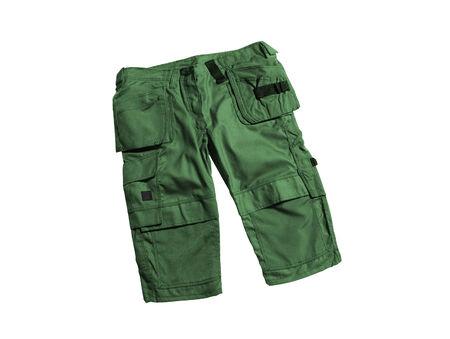 khaki pants: green shorts isolated on a white background Stock Photo