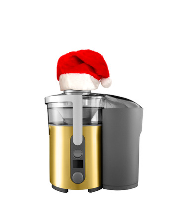 an electric Christmas blender on a white background photo