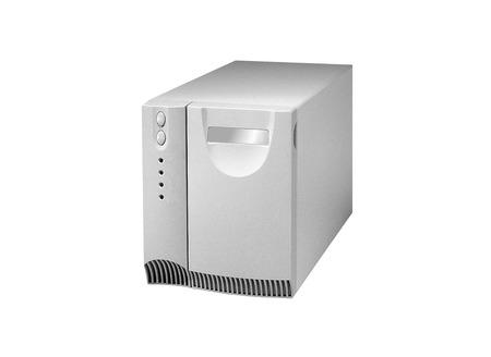 uninterrupted: Uninterruptible power supply system isolated on a white background Stock Photo