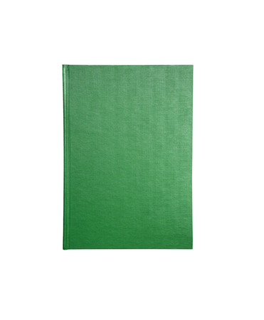 Blank green upright book isolated for you