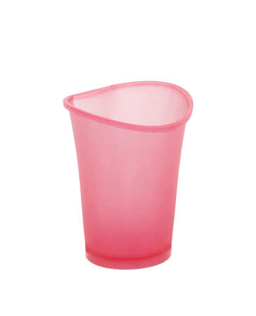 bendable: plastic cup isolated on white