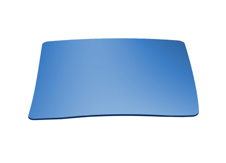 mousepad: blue mousepad isolated on a white background Stock Photo