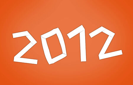 new years resolution: New 2012 year with orange .