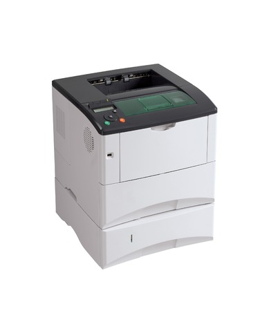 printer under the white background. photo
