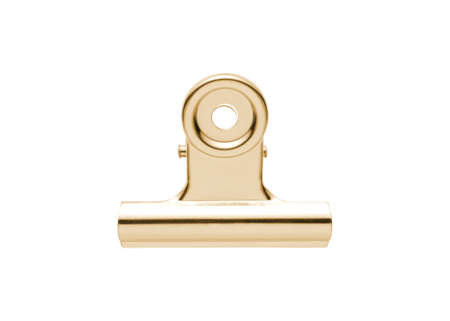 silver plated: Gold and silver plated tie-clip  isolated on white Stock Photo