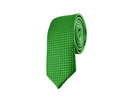 elastic garments: Fashionable striped tie on a white background