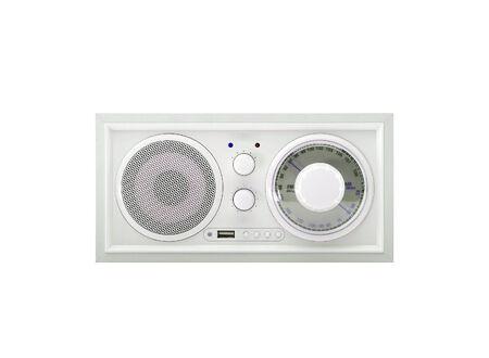Old radio isolated on a white background photo