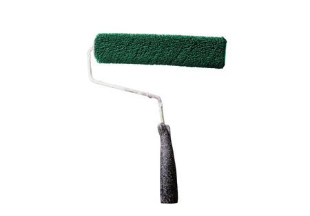 Paint roller isolated on the white background photo