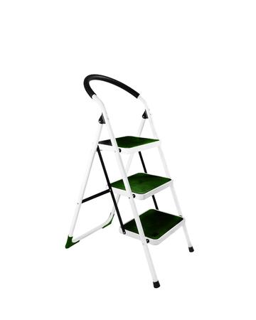 reachability: Aluminum step ladder isolated on white background Stock Photo