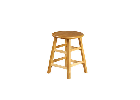 Small Stool isolated on a  white background