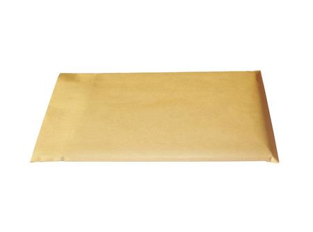 Used postal Confidential envelope, isolated on white background photo
