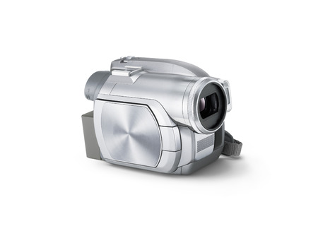 Video Camera isolated on a white background photo