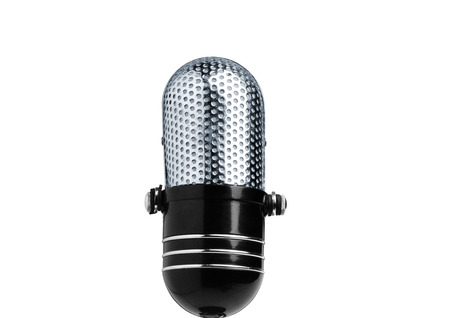 shure: Vintage Microphone Isolated Over White for you