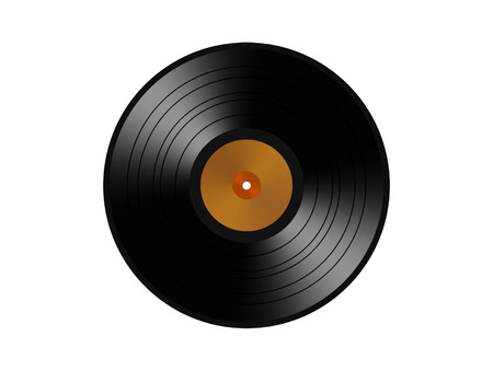 vinyl record. isolated on a white  photo