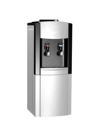 modern metallic water cooler isolated
