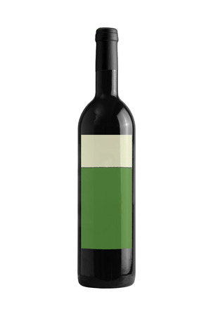 wine bottle isolated on a white background photo
