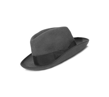 black hat: Black hat on the white background Stock Photo