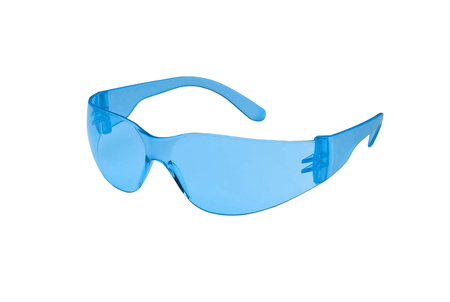 vision repair: Photo of blue glasses isolated Stock Photo