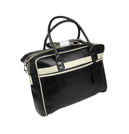 backgruond: mans handbag isolated on a white backgruond