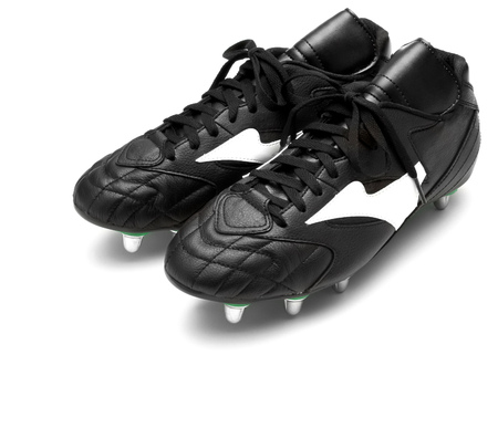 football boots: Football boots isolated on white Stock Photo