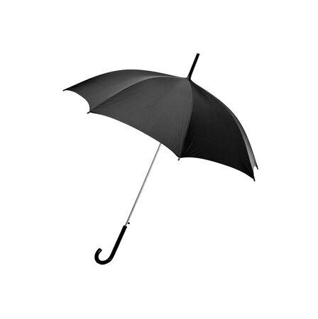 Paraguas negro sobre fondo blanco