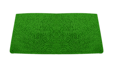 carpet and flooring: roll green grass isolated on white background