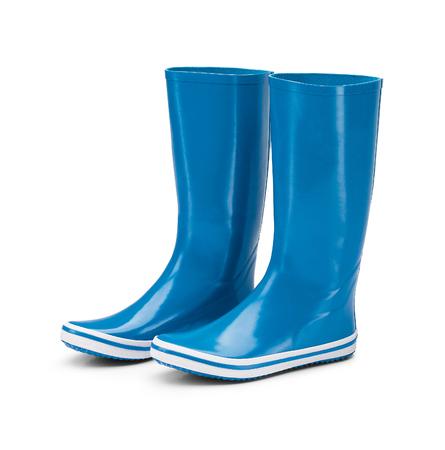 botas: botas de caucho aislado en fondo blanco