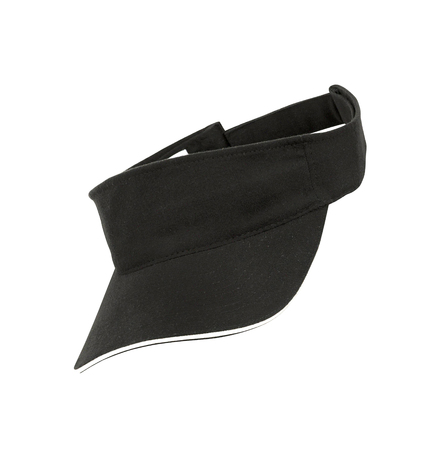 black cap: black cap isolated on white Stock Photo