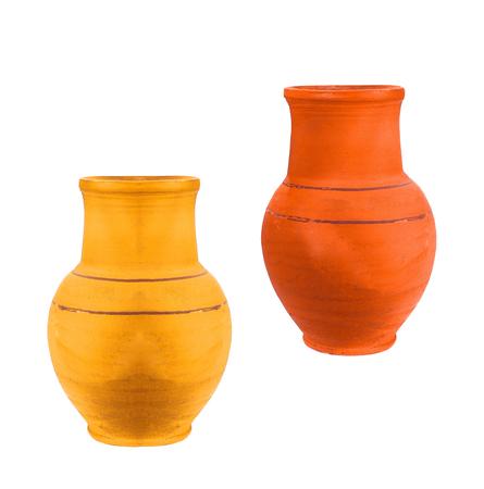 ollas de barro: Las ollas de barro de trabajo manual.