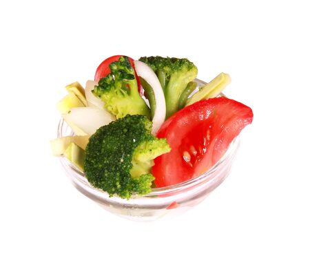 gass: vegetables in a small gass isolated