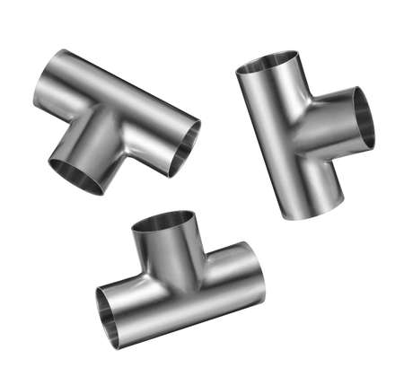 chrome: metal chrome pipe isolated