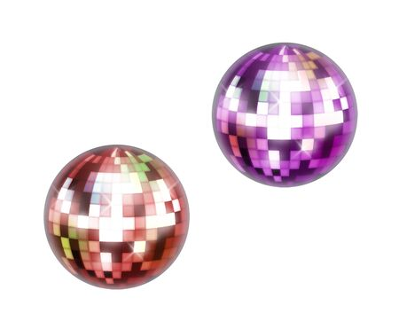 mirrorball: colorful disco ball