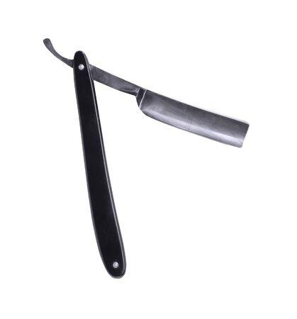 perilous: cutthroat razors isolated on a white Stock Photo