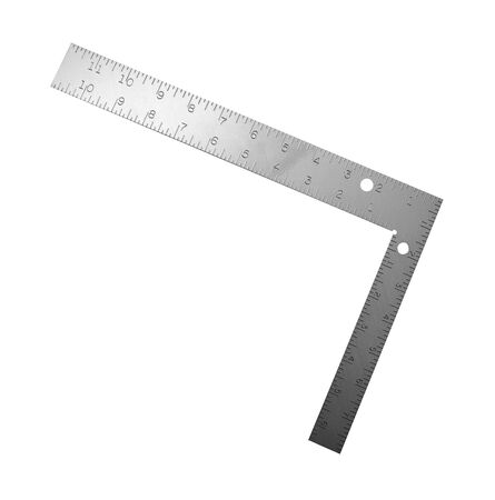 millimetre: Metal angle on a white background