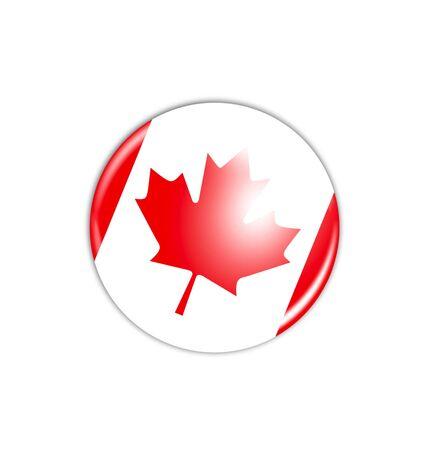 canadian flag: badge - Canadian flag