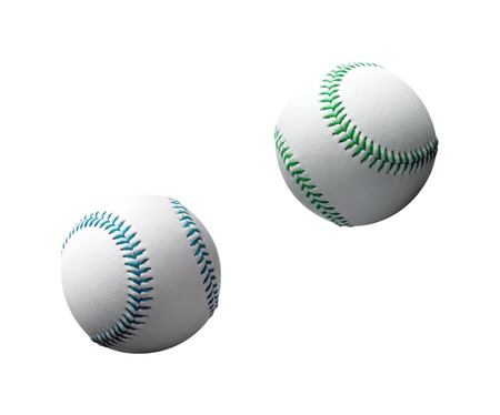 hardball: new baseball isolated on white background Stock Photo