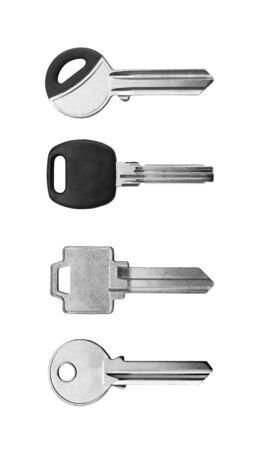 skeleton key: keys on white background