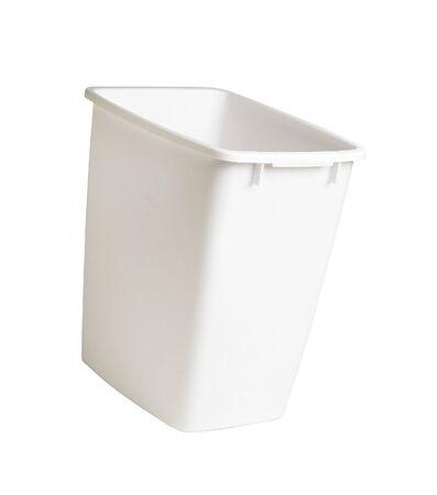 plastic container: Closed white plastic container Stock Photo