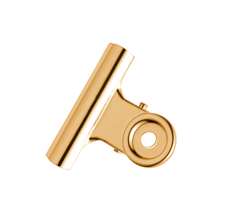 silver plated: Gold and silver plated tie-clip