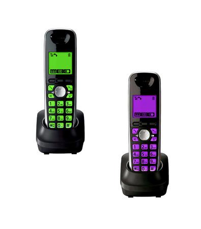 cradle: Wireless telephones with cradle isolated