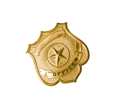 police badge: police golden badge