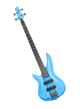 hardrock: bass guitar with clipping path
