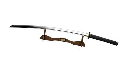 bushido: Samurai sword on a stand