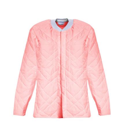 habiliment: pink jacket Stock Photo