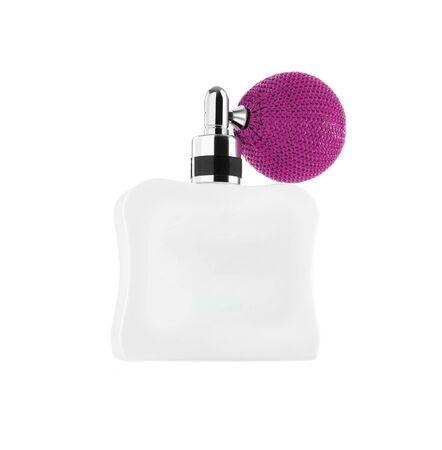 parfum: pink perfume isolated on white
