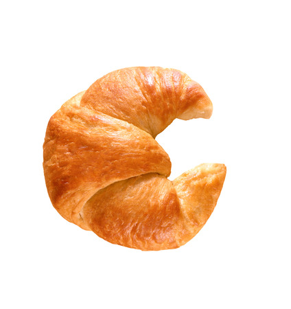 Fresh and tasty croissant 免版税图像