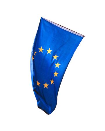 belgie: Flag of Europe isolated over white background Stock Photo